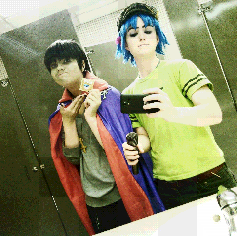 GORILLAZ cosplay featuring condoms
